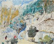 Sale 8881 - Lot 565 - Lloyd Rees (1895 - 1988) - Edge of the Forest 64 x 79.5 cm