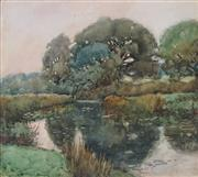 Sale 8929 - Lot 588 - Artist Unknown - Countryscape and River 22 x 25.5 cm