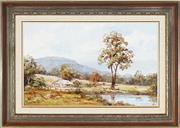 Sale 8945 - Lot 2045 - John Hingerty (1930 - ) - Bywong Landscape, 1988 37 x 61 cm (frame: 56 x 79 x 4 cm)