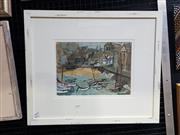 Sale 8990 - Lot 2007 - Amy Kersley St Ives gouache, 41 x 61cm (frame) -