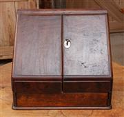 Sale 9060H - Lot 10 - A desk top writers compendium with two hinged doors revealing five compact=compartments and internal drawer. Height 36 x width 41cm