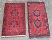 Sale 9080 - Lot 1023 - Afghan Kahl x 2 (60 x 90cm)