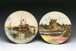 Sale 9093P - Lot 62 - Two Royal Doulton Landscape Plates incl. Home Waters (D: 26.5 cm)