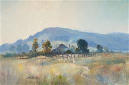 Sale 9133 - Lot 569 - James Wynne (1944 - ) Morning Frost oil on board 59.5 x 90 cm (frame: 77 x 108 x 4 cm) signed lower left