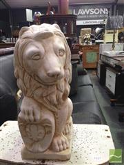 Sale 8412 - Lot 1034 - Lion Form Garden Statue