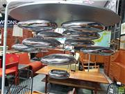Sale 8566 - Lot 1051 - Mercury Form Modernist Hanging Light Fitting