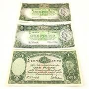 Sale 8618 - Lot 39 - Australian One Pound Notes, three examples