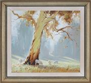 Sale 8953 - Lot 2002 - Dixon Copes (1914 - 2002) - Early Morning Pastures 39 x 41.5 cm (frame: 52 x 55 x 2 cm)