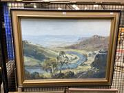 Sale 8888 - Lot 2040 - James Radford - Bend in the River, oil painting, signed