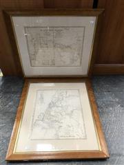 Sale 9024 - Lot 2078 - 3 Early Framed Maps: Swan River WA/Van Diemens Island; Australia in 1839 & New South Wales -