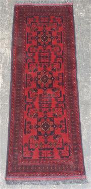 Sale 9080 - Lot 1056 - Afghan Kahl in red (150 x 50cm)