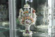 Sale 8288 - Lot 31 - East German Floral Lidded Vase
