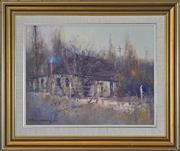 Sale 8401 - Lot 506 - Patrick Carroll (1949 - ) - Winter Evening, Perthville 35.5 x 45.5cm