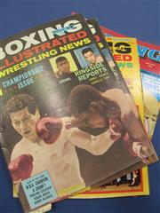 Sale 8419A - Lot 78 - Boxing Books - a box including Australian Fighter Magazine, Boxing Records of the 60s, etc