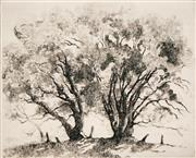 Sale 8666A - Lot 5094 - Adrian Feint (1894 - 1971) - The Basket Willows 14 x 11cm (sheet size: 44.5 x 34.5cm)