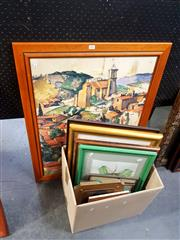 Sale 8695 - Lot 2062 - Quantity of Assorted Artworks including Original Paintings, Sketches, Japanese Calligraphy and Decorative Prints, framed and vario...