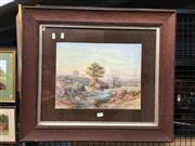 Sale 8730 - Lot 2074 - Artist Unknown - European Landscape with Castle, Watercolour