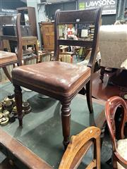 Sale 8896 - Lot 1089 - Set Of Four Spade Back Dining Chairs