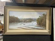 Sale 8924 - Lot 2070 - John Hansen - Willoughby Bayoil on canvas board, 55 x 93cm, signed