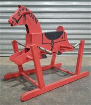 Sale 8984 - Lot 1065 - Vintage 1940s Red The Wonder Horse Timber Spring Rocking Riding Horse (H:71 x L:87 x W:48.5cm)