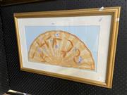 Sale 8981 - Lot 2062 - Edith Cowlishaw - Fan III, hand-coloured etching, 4/10, SLL