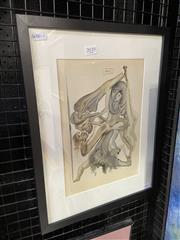 Sale 9041 - Lot 2039 - Salvador Dali colour lithograph (book plate) 42 x 32cm (frame)