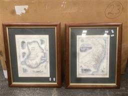 Sale 9106 - Lot 2060 - Two of maps of Australia & NSW, offset lithograph, frame: 46 x 55 cm and 56 x 46 cm, published by John Tallis & Co -
