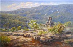 Sale 9137A - Lot 5019 - Brad Boyd (1946 - ) - Late Springtime, Grand Canyon, Grampians 57 x 68 cm (frame: 71 x 102 x 5 cm)
