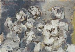 Sale 9195 - Lot 508 - PAUL HAEFLIGER (1914 - 1982) ELLAS XV oil on board 41 x 60 cm (frame: 58 x 76 x 5 cm) signed upper left