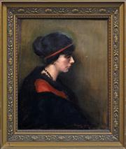 Sale 8286 - Lot 575 - Margery Withers (1874 - 1966) - Portrait of a Lady 60 x 50cm