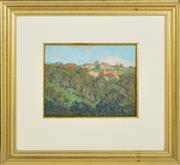 Sale 8339A - Lot 573 - Percy Leason (1889 - 1959) - Farm Through Trees 17 x 22.5cm