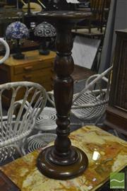 Sale 8398 - Lot 1065 - Turned Timber Pedestal