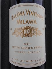 Sale 8498 - Lot 1831 - 1x 2005 Brown Brothers Milawa Vineyard Limited Edition Petite Sirah & Syrah, Milawa - 1500ml magnum in box