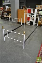 Sale 8469 - Lot 1069 - Metal Double Bed & Single Example