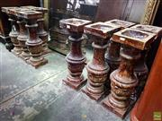 Sale 8598 - Lot 1065 - Set of Eleven Federation Drip Glaze Architectural Balustrades