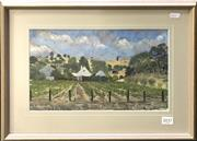 Sale 8563T - Lot 2037 - M J Bartshe - Vineyard, 1997, oil on canvas board, 20 x 34cm, signed lower left