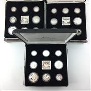 Sale 8618 - Lot 40 - Royal Australian Mint Masterpieces in Silver Jubilee Set 1991 in box (3), approx. 69.74g silver each.