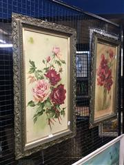 Sale 8711 - Lot 2044 - Pair of late C19th Still Life Paintings, each 74 x 33cm (frame) and unsigned