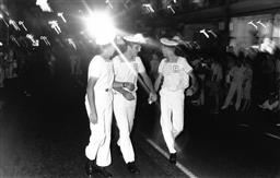 Sale 8912A - Lot 5030 - Sailors, Sydney Gay and Lesbian Mardi Gras Parade, Oxford Street (1988), 24.5 x 15.5 cm, silver gelatin, Photographer: Gary McLean