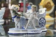 Sale 8360 - Lot 29 - KPM Cherub & Goat Figural Planter (AF)
