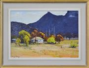 Sale 8401 - Lot 502 - Dudley Parker (1914 - ) - Airleys Gap, Glen Davis, Capertee Valley 33.5 x 49cm