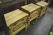 Sale 8418 - Lot 1024 - Pair of French Style Bedside Cabinets