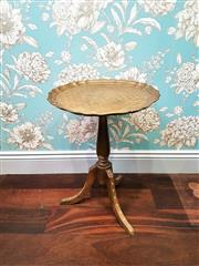 Sale 8500A - Lot 35 - An Italian Florentine side table - Condition: very good (top has been re-finished) 40cm top diameter x 54cm high