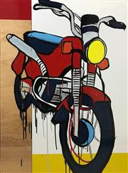 Sale 8527A - Lot 16 - Jasper Knight (1978 - ) - Honda Postie 102 x 76cm