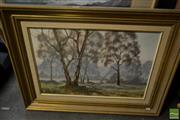 Sale 8537 - Lot 2073 - Bill Golding - Mudgee Morning 40 x 60cm