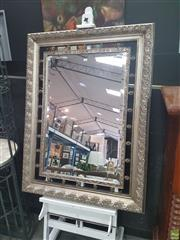 Sale 8620 - Lot 1008 - Ornate Framed Bevelled Edge Mirror (124 x 94cm)