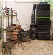 Sale 8677A - Lot 42 - A three tier decorative stand
