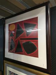 Sale 8720 - Lot 2093 - John Coburn - Untitled Decorative Print 56 x 67.5cm, signed in print lower right