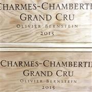 Sale 8825 - Lot 750 - 6x 2015 Olivier Bernstein, Grand Cru, Charmes-Chambertin - original timber box
