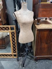Sale 8863 - Lot 1061 - Dressmakers Mannequin on Metal Stand